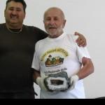Rocco Ciarico ed Erminio Di Carlo con la collezione di minerali.