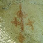 Civitaluparella - Coste della Taverna, figura antropomorfa e croci