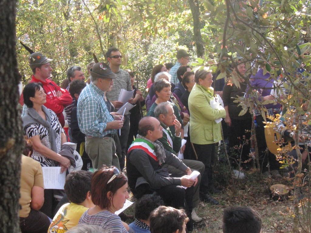 I sindaci di Quadri e Civitaluparella ed altre autorità presenti all'evento
